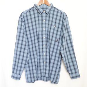 Patagonia Blue Plaid Flannel Long Sleeve Shirt